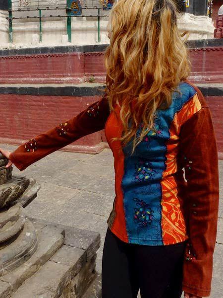 Long sleeve Kathmandu fashion top available on our website now #himalayanhandmades #hippieclothing #nepalfashion #bohemian