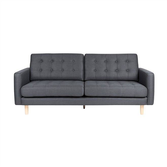 Emerson 3 Seater Sofa Anthracite Sofas Living Nood Nz Sofa Shop Chic Living Room Furniture Sofa Couch Furniture