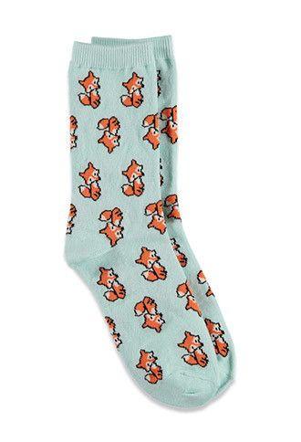 Baby Fox Crew Socks   Forever 21 - 2000078156