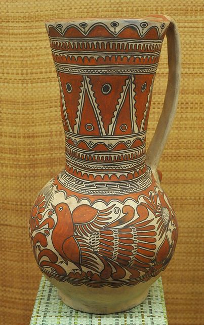 Nahua Pottery Mexico from the Rio Balsas region of the state of Guerrero (possibly San Agustin Oapan).  In the National Museum of Anthropology, Mexico City
