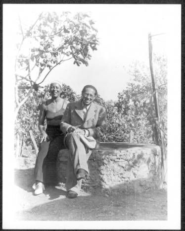 Lion Feuchtwanger and wife Marta in their garden. :: Lion Feuchtwanger Papers, 1884-1958