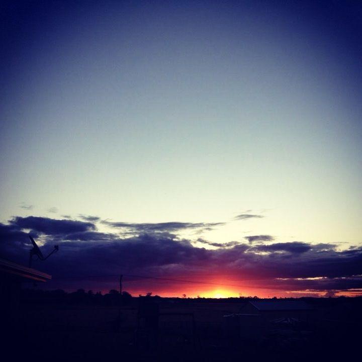 My back rad #scenicrim #sunset