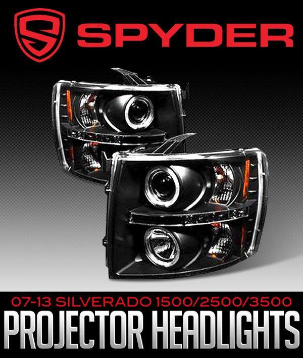 Spyder Projector Headlights for 2007-2013 Chevy Silverado 1500, 2500 and 3500!: NEW at JBO: 2007-2013 Silverado 1500,… #Blog #New_Products