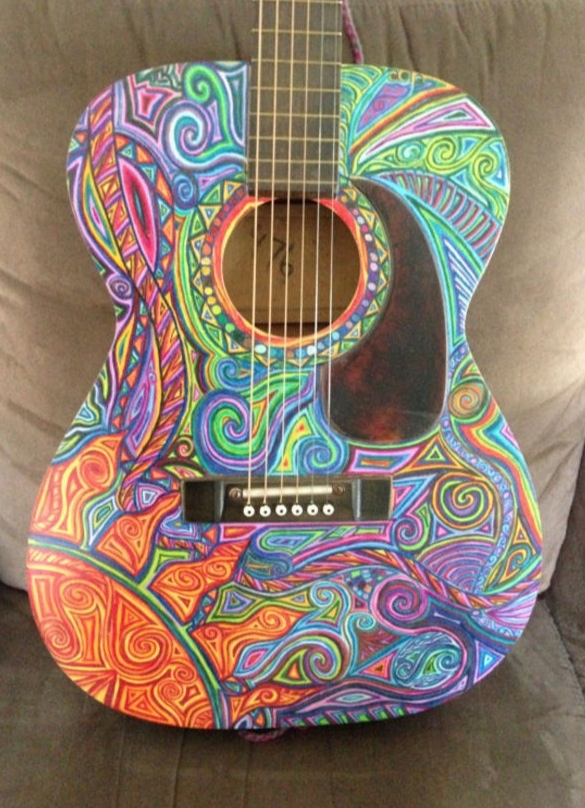 Awesome guitar in paisley