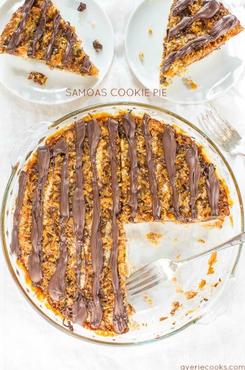 Samoas Cookie Pie - Averie Cooks