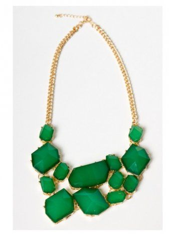 All Hail the Green Necklace #fashion