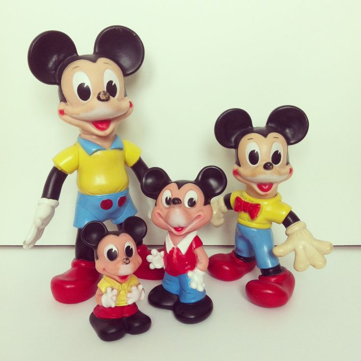 Mickey Mouse Toys : Mickey mouse ledraplastic vintage rubber toys