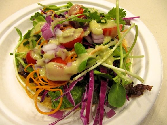 Delicious homemade raw salad dressing