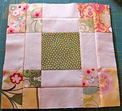 Reverse Magic Nine Patch quilt block tutorial by TeresaDownUnder
