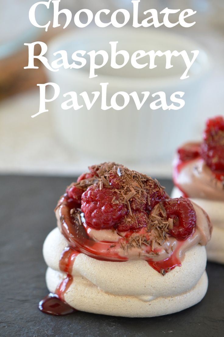 Ατομικές Pavlova Σοκολάτας με σμέουρα - Craft Cook Love