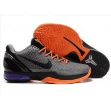 Nike Zoom Kobe VI Mens Basketball Shoe Orange Black Gray
