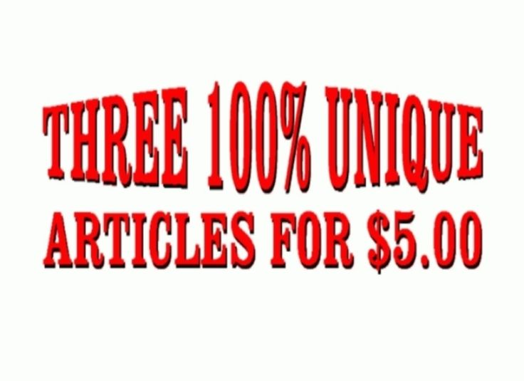 dynamicwriting:I will write 3 Professional Articles of Your Choice, within reason for $5, on fiverr.com