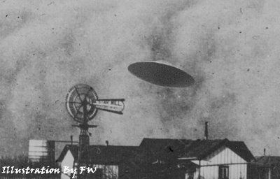"From 1896 to 1897 (six or seven years before the Wright Brothers' first flight), numerous sightings of a cigar-shaped airship were reported across the United States.  One of these accounts was reported in the April 19, 1897, edition of the Dallas Morning News. The UFO is said to have hit a windmill on the property of a Judge J.S. Proctor two days earlier resulting in it's crash. The pilot (who was described as ""not of this world""), did not survive the crash, and was buried at a nearby cemetery.:"