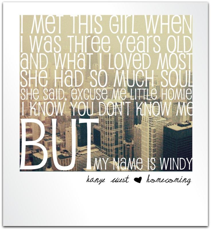 Kanye West - Homecoming - Lyrics