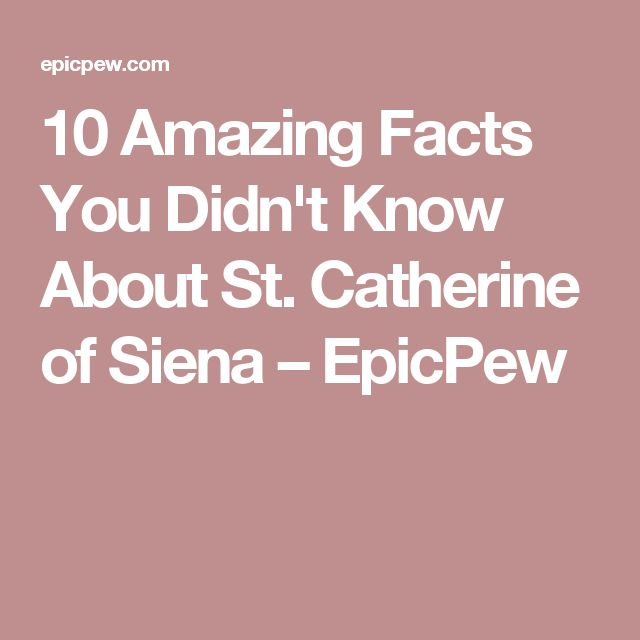 10 Amazing Facts You Didn't Know About St. Catherine of Siena – EpicPew