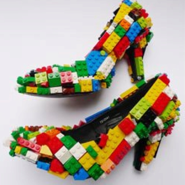 Lego shoes-Trev would probably give these to his future wife...lol