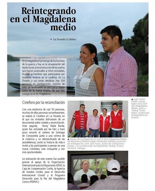 ¡Sonreir es el primer paso!: Reintegrando en el Magdalena Medio
