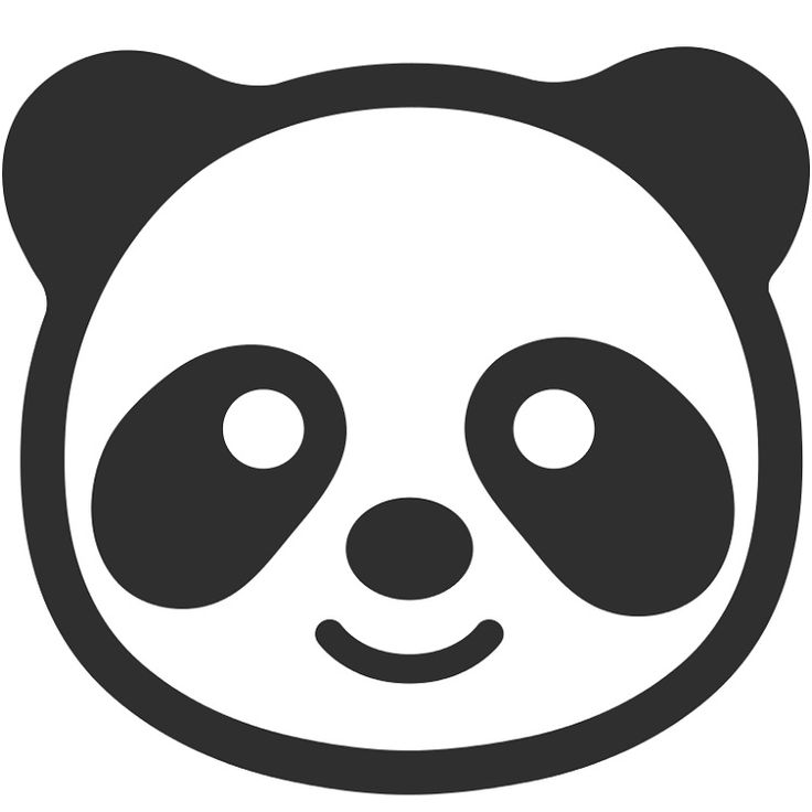 Panda Face Coloring Pages
