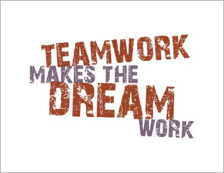 Teamwork makes the Dream Work poster.