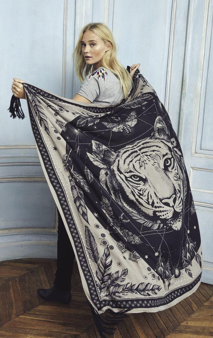 foulard mystic taupe