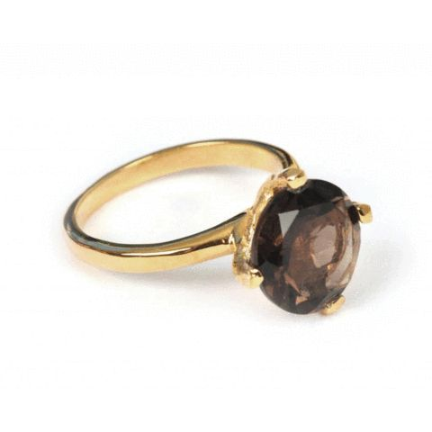 SysterP Hera Ring Gold Smokey - Nordic Grace Accessories