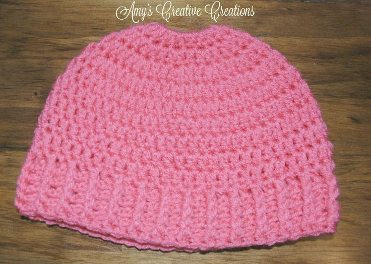 I already made a Messy Bun Hat Pattern, but this one you will use a ponytail holder on top rather than starting the brim first. ...