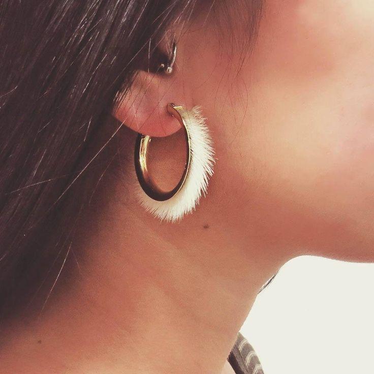 Sealskin Hoop Earrings :: by tundraberry