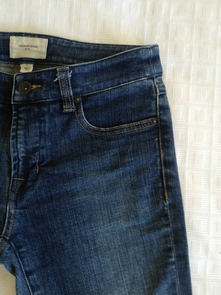 Ladies Country Road Straight Leg Blue Faded Denim Jeans - Size 4  Now Selling! Click through to go to eBay auction.