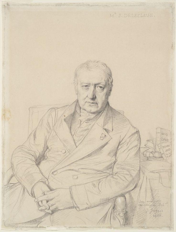 Delécluze portrait par Ingres