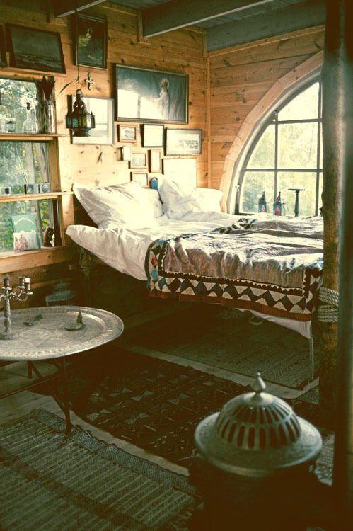 quién tuviera una habitación de madera