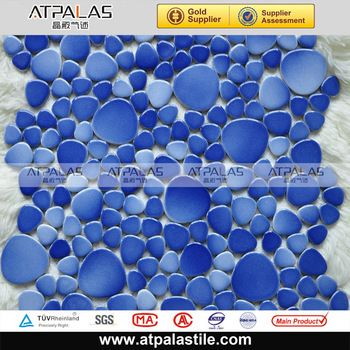 mix blue mosaic tile ceramic pebble mosaic