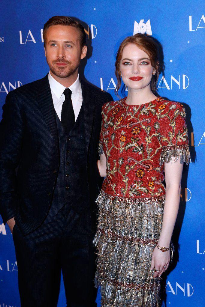 Ryan Gosling and Emma Stone La La Land Paris Premiere 2017| |    POPSUGAR Celebrity