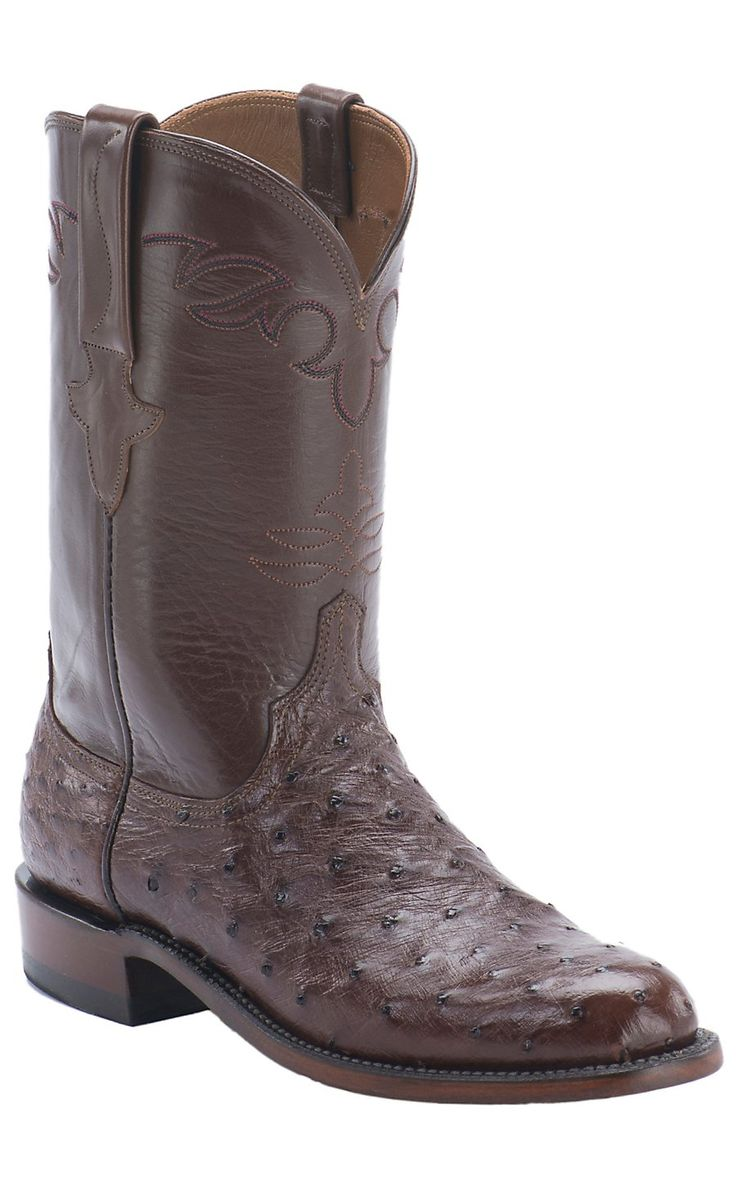 Lucchese 1883 Men S Sienna Brown Full Quill Ostrich Exotic