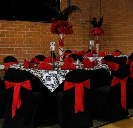 105 best black, red, and white party ideas images on pinterest