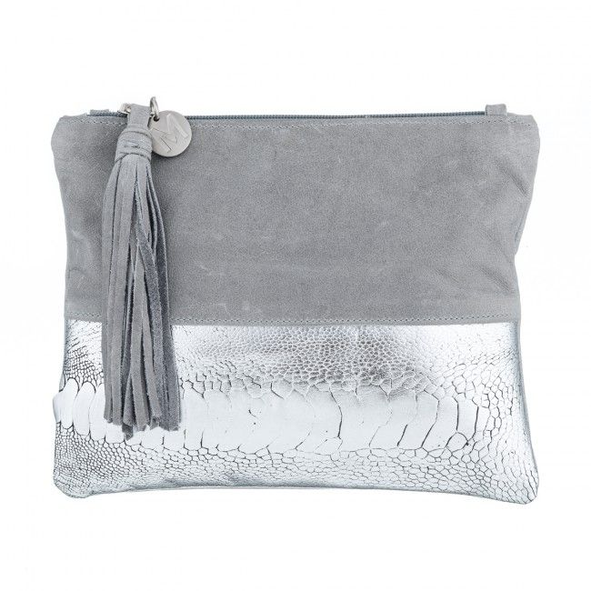 Natalie Grey + Silver Clutch