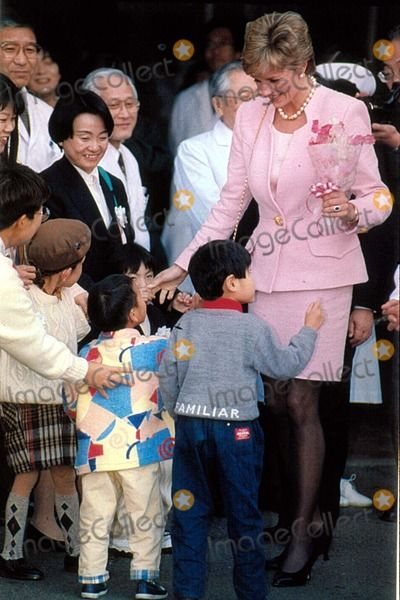 February 6, 1995: Princess Diana visiting the National Children's Hospital and then giving a speech at the Peter Pan Children's Fund in Setagaya-ku, Tokyo, Japan. Photo by Dave Chancellor/alpha/Globe Photos, Inc.