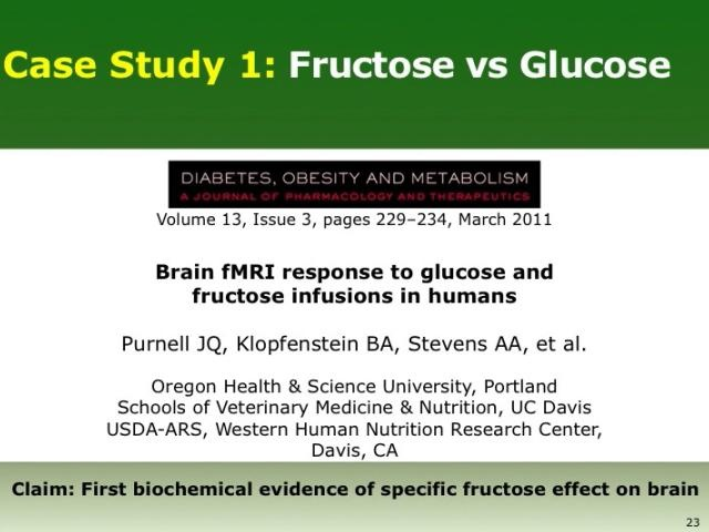 Case Study: Fructose vs Glucose