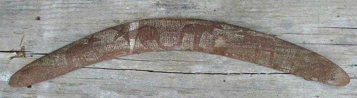 "Vintage Wooden Boomerang with Kangaroo Etchings Australian 24"" | Collectibles, Cultures & Ethnicities, Australian | eBay!"