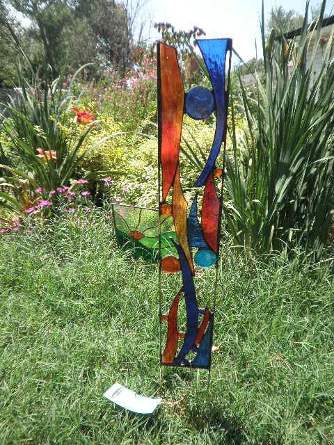 Stained Glass Garden Sculpture Blue Nile By FeralGlass On Etsy, $68.00