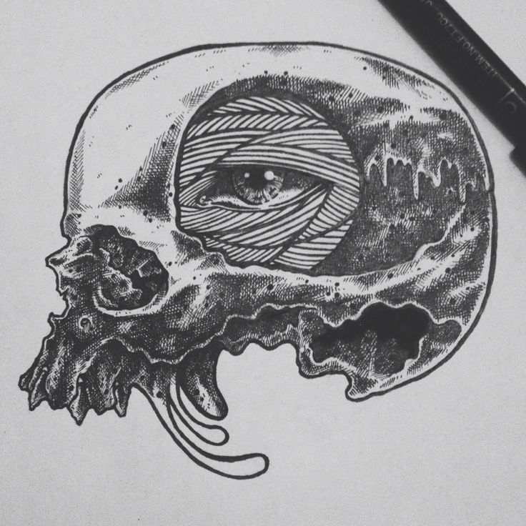 Black and white art drawing