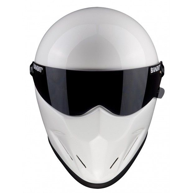 #Bandit #Crystal #White #Motorcycle #Helmet - #helmade #Streetfighter #Helmets Design yours on www.helmade.com