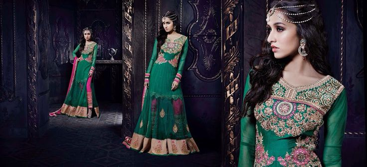 Gorgeous Green Net and Embroidered Top .. Price Enquiry email @ hello@thebollywoodbazaar.com