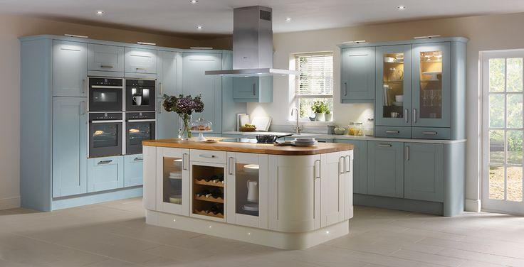 Schreiber Audley Blue Kitchen - Homebase