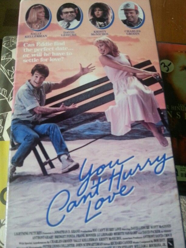 Goodwill $.89. You Can't Hurry Love vhs tape. Teen rom-com from 1987 that made me buy it for the ridiculous cast....Sally Kellerman, David Leisure, Kristy McNichol, Charles Grodin, Anthony Geary, Bridget Fonda...that's good enough for 90 minutes. The 20-something actor playing a teen has really hairy forearms on the cover..they'd be airbrushed out today. Directed by no one you're heard of or ever will.