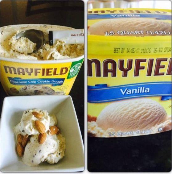 @Mayfieldcreamery @Influenster #MayfieldSummer  #contest yummy mayfield ice cream with healthy almonds.