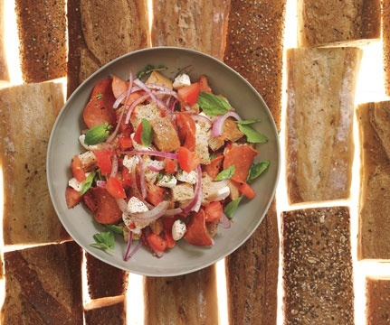 No-cook meals: Food  Diet: self yum-yum-eat-em-ups: Food Recipes, Red Peppers, Salad Recipes, Eating Rights, Panzanella Recipes, Healthy Eating, Nocook Meals, Healthy Food, Onions Recipes