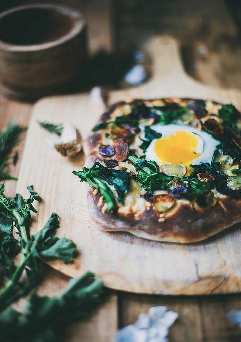 Rapini & Rosemary Potato Pizza on Buttermilk Crust   Local Milk