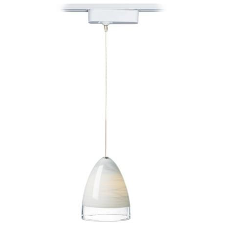 If I had money to burn...... Nebbia White Glass Tech LED Track Pendant for Juno Track Systems -