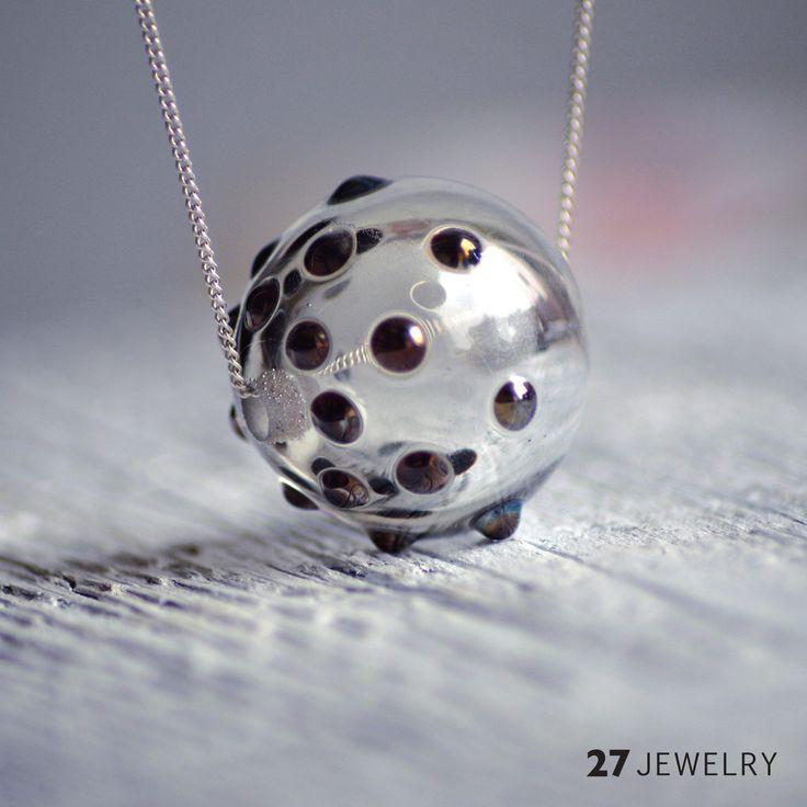 hollow 27jewelry handmade lampwork glass bead