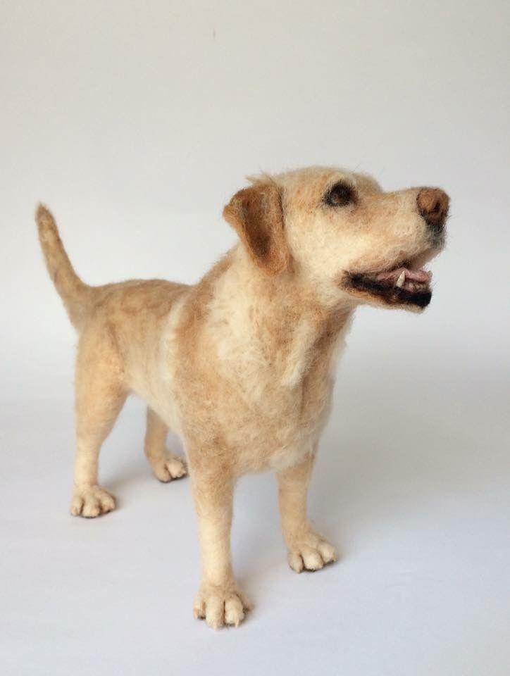 Needle felted Labrador, dog sculpture